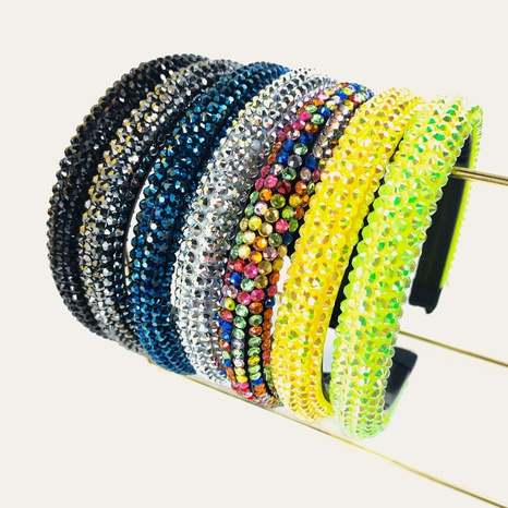 baroque color rhinestone headband  NHUX339007's discount tags