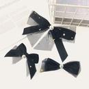 Korean pearl bow hairpin NHUX339036