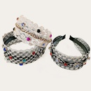 retro pearlstudded lace flat headband NHUX339057