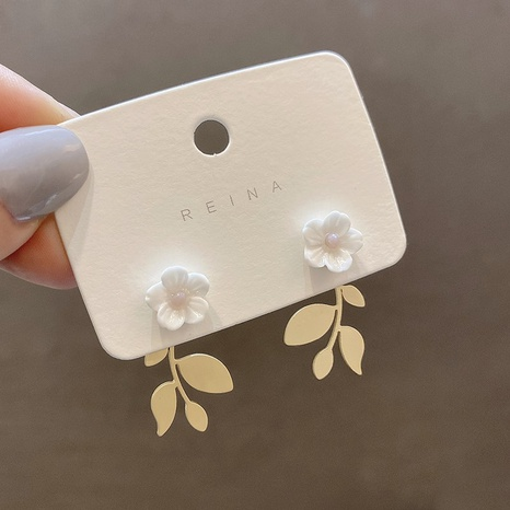 Fashion resin flower copper earrings  NHXI338841's discount tags