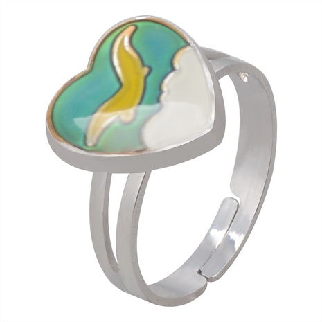 Fashion Seagull Spreading Wings Peach Heart Ring  NHBI338976's discount tags