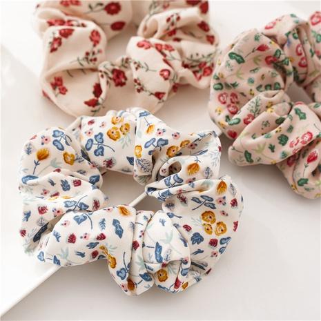 Korean retro printing cute hair scrunchies  NHDM338896's discount tags