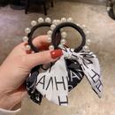 Korean bow pearl letter head rope NHCQ339199