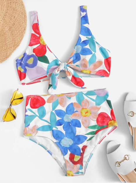 fashion printed high-waist split swimsuit NHHL339252's discount tags
