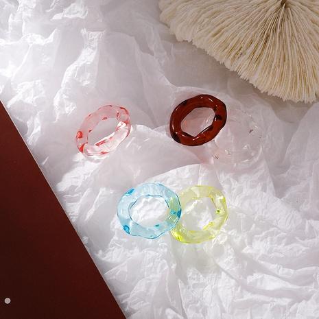 Koreanischer bunter transparenter Acrylring NHMS339307's discount tags