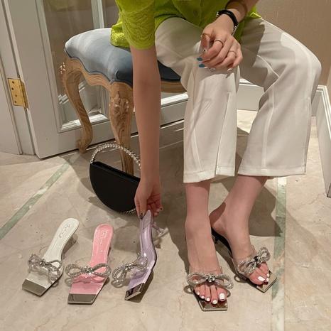 Sandales coréennes à nœud aiguille nouvelle mode NHHU339402's discount tags