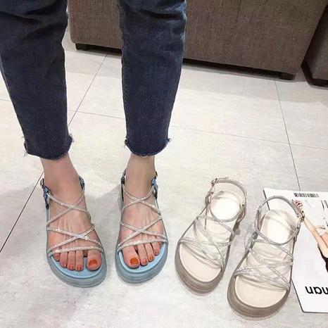 Nouvelles chaussures de mode à talons plats en strass NHHU339405's discount tags