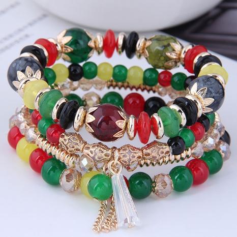 Korean crystal beads multi-layer bracelet NHSC339625's discount tags