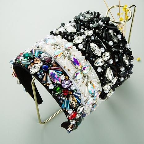 baroque crystal pearl beaded headband NHLN339535's discount tags