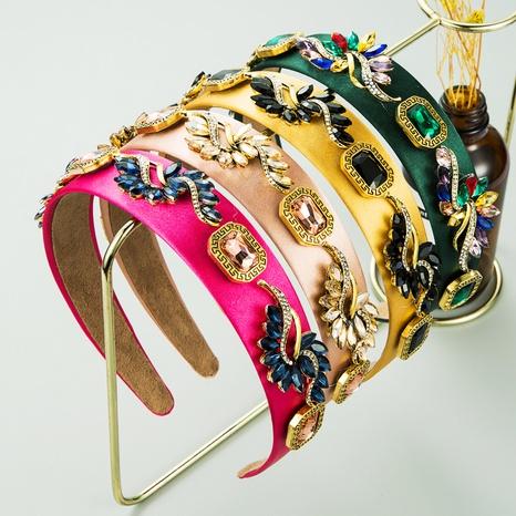 baroque alloy glass diamond headband NHLN339534's discount tags