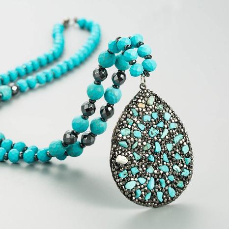 bohemia new diamond water drop sweater chain NHLN339532's discount tags