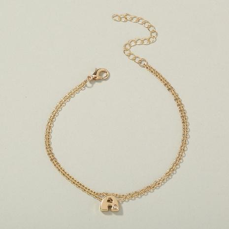 Modebrief Ein zweilagiges Armband mit dünner Kette NHAN339581's discount tags