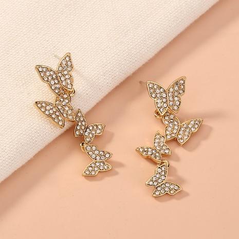Neue koreanische Diamantohrringe mit mehreren Schmetterlingen NHAN339580's discount tags