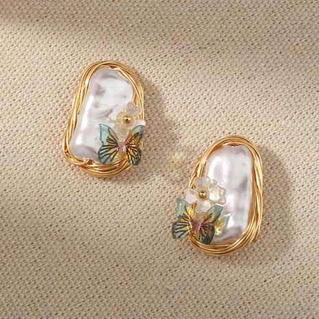 Retro Barock Perle Schmetterling Ohrringe NHAN339589's discount tags
