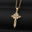 retro Jesus cross pendant necklace NHBU339595