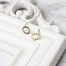 Fashion hexagonal geometric copper earrings NHRN339613