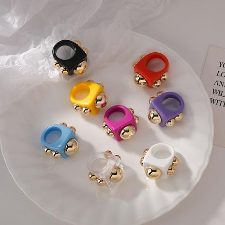 Mode Bonbon Farbe Acryl Ring NHMS339616's discount tags