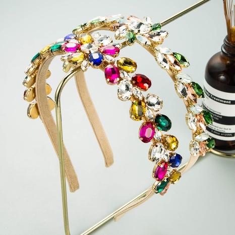 Fashion color rhinestone flower headband NHLN339661's discount tags