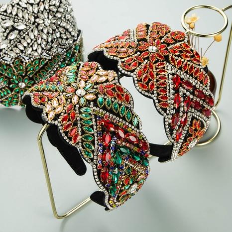 Baroque pearl rhinestone fabric headband NHLN339670's discount tags