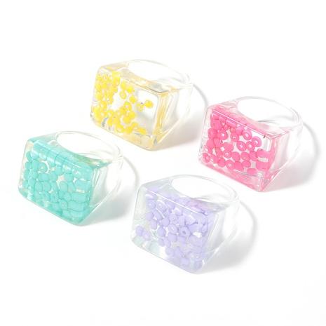 Anillo de resina cuadrado de moda NHJE339678's discount tags