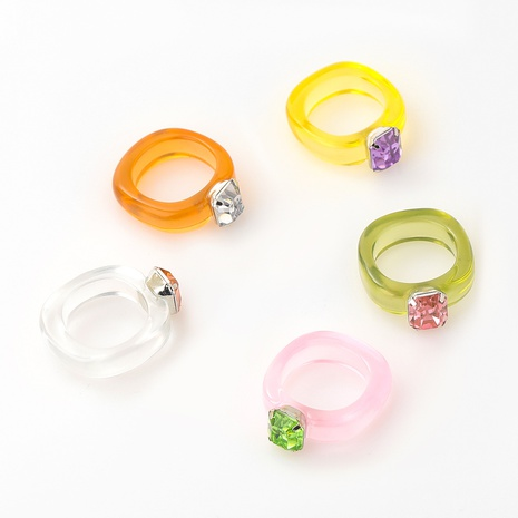 fashion diamond acrylic ring NHJE339689's discount tags