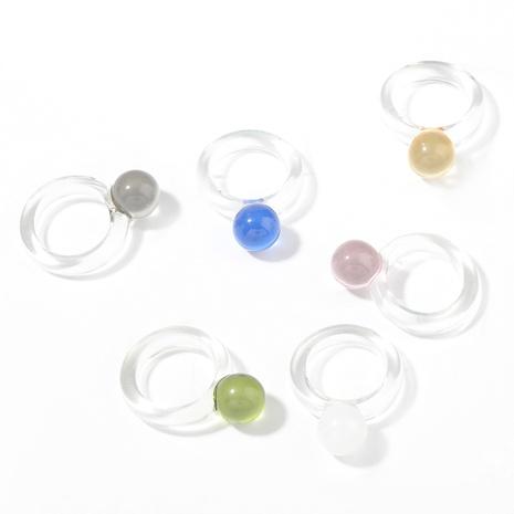 Anillo de resina redondo de moda NHJE339693's discount tags