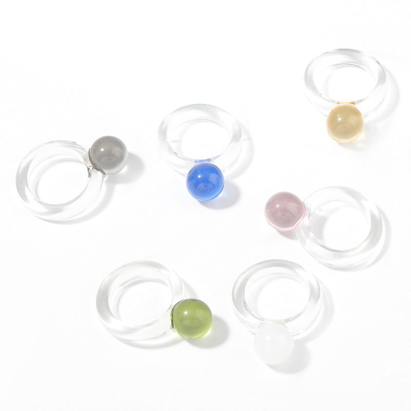 Fashion round resin ring  NHJE339693