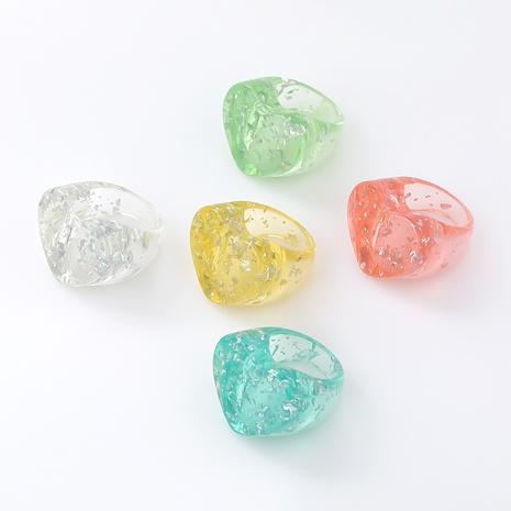 anillo de resina en forma de corazón simple NHJE339694's discount tags