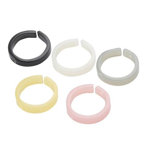 conjunto de anillos de resina simple coreano NHJJ339697's discount tags