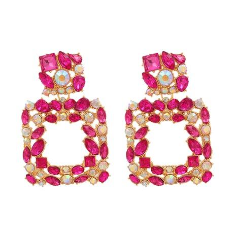 Boucles d'oreilles en alliage de strass géométriques à la mode NHJJ339700's discount tags