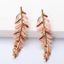 Boucles d39oreilles en alliage de feuilles huileuses de Core NHJJ339699