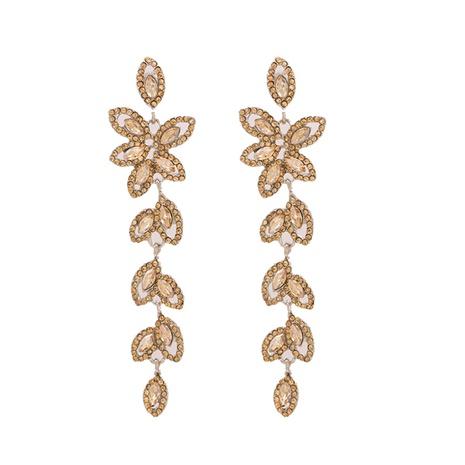 Korea diamond leaf alloy earrings NHJJ339704's discount tags