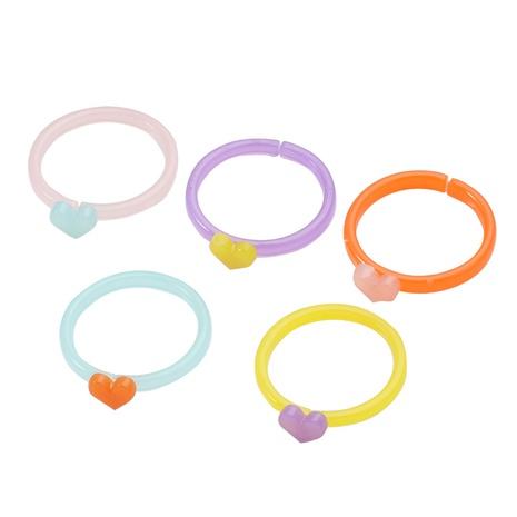 Conjunto de anillos de resina coreana NHJJ339707's discount tags