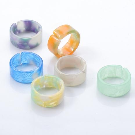 anillo de resina acrílica simple NHJJ339705's discount tags