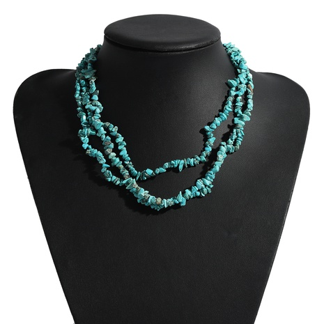 fashion multi-layer gravel necklace   NHJQ339712's discount tags
