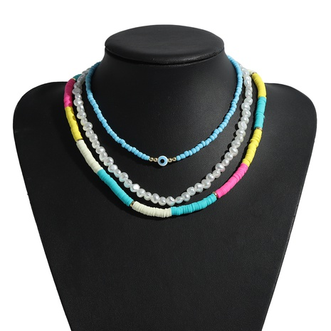 bohemian colored soft clay necklace  NHJQ339720's discount tags