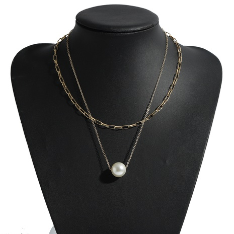 simple large pearl pendent necklace NHJQ339723's discount tags