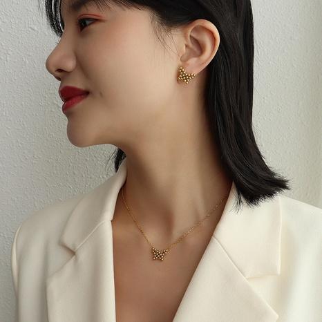 Mode handgemachte Titan Stahl Schmetterling Ohrringe Halskette NHOK339747's discount tags