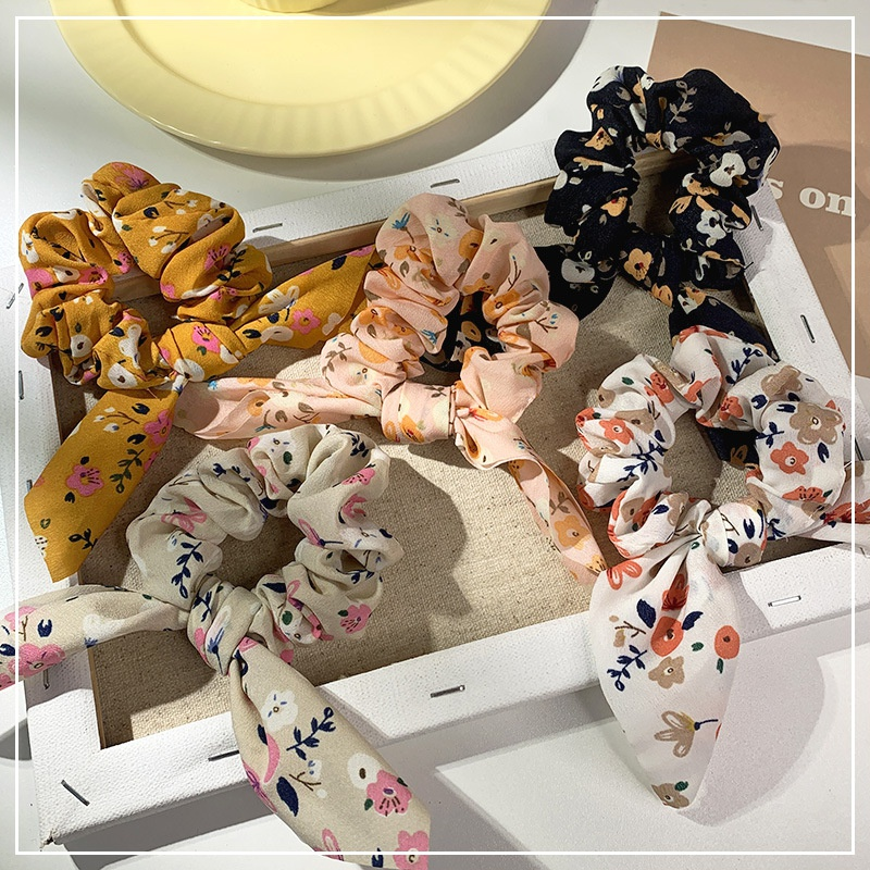 fashion floral retro style hair scrunchies  NHOF339762