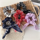 Korea elegant cashew ribbon hair scrunchies  NHOF339763