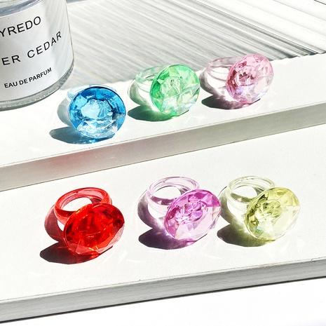 fashion transparent gem resin ring NHPJ339772's discount tags