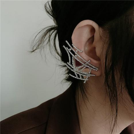 Boucles d'oreilles en alliage de zircon tressé en maille de mode NHYQ339791's discount tags
