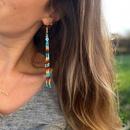 Miyuki rice bead woven long tassel earrings NHGW339803