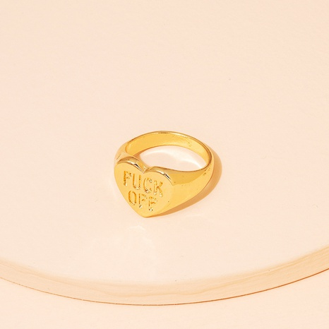 new simple fashion letter love ring NHAI339817's discount tags