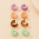 Korea candy color geometric resin earrings NHAI339823