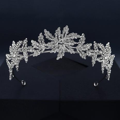 Fashion crown alloy rhinestone bridal headband NHHS339862's discount tags