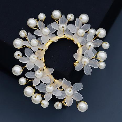 Korean pearl flower handmade earrings NHHS339863's discount tags