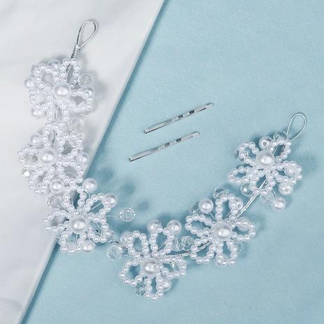 Koreanisches Kristallperlen-Brautstirnband NHHS339865's discount tags