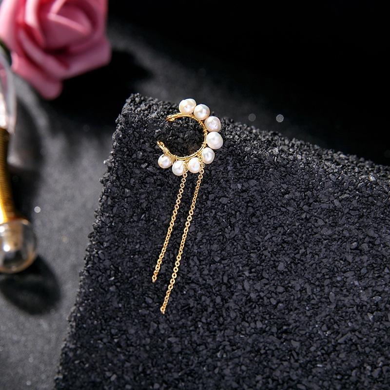 New simple fashion freshwater pearl ear clip NHQD339890