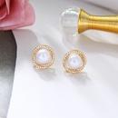 simple pearl tassel earrings NHQD339896